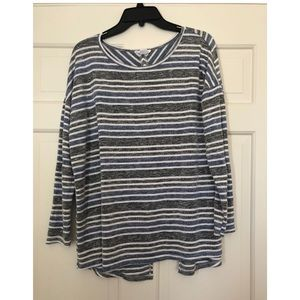 Loveriche striped shirt with open back